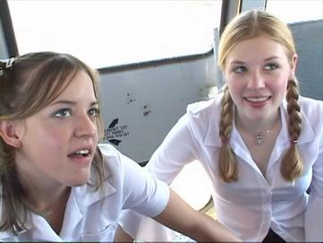 Teen nudity school bus possible